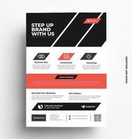 Diseño profesional de plantilla de volante de negocios. vector