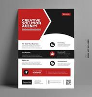 Business Flyer Template in Modern Style. vector