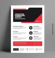 Business Flyer for Corporate Print. vector