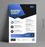 Printable Corporate Flyer Template. vector
