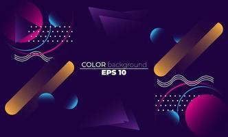 Colorful geometric background with gradient motion shapes composition. Applicable for gift card,  Poster on wall poster template,  landing page, ui, ux ,coverbook,  baner, social media posted,