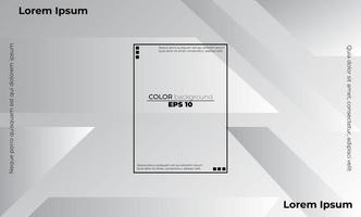 Abstract geometric white and gray color Visual Supply Company background for gift card,  Poster on wall poster template,  landing page, ui, ux ,coverbook,  baner, social media posted vector