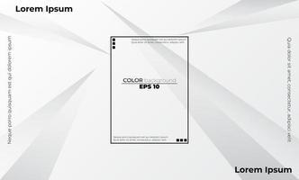 Fondo de empresa de suministro visual de color blanco y gris geométrico abstracto para tarjeta de regalo, póster en la plantilla de póster de pared, página de destino, ui, ux, coverbook, baner, publicación en las redes sociales