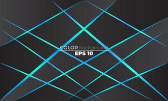 Polygonal shapes background  low poly triangles mosaic black and blue neon vector