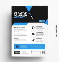 Sleek Business Flyer Template Layout. vector