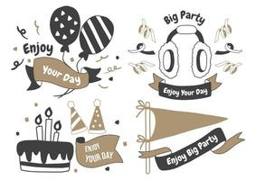 logo de vector de etiqueta de fiesta para banner
