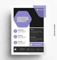 Sleek Flyer Template Vector Design,