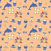 Seamless Summer Pattern Vector for banner