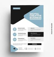 Modern Business Flyer Template. vector