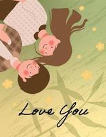 Happy Valentine's day poster vector illustration