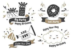 Party label Vector Logo for banner