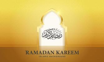 Ramadan Kareem islamic design mosque door for greeting background Ramadan Kareem. vector