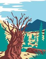 Prometheus Tree with Wheeler Peak in Nevada WPA Poster Art vector