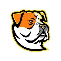 mascota cabeza de bulldog americano vector