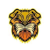 mascota perro mono affenpinscher vector