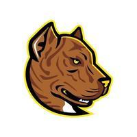alano español bulldog mascota del lado de la cabeza vector