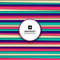 Línea horizontal de rayas de colores abstractos, patrón con sombra. vector