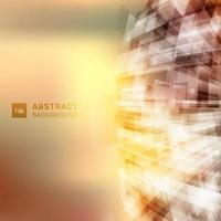 Abstract virtual technology 3D futuristic geometric overlapping on glowing background with lighting. vector