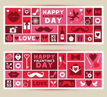 Set of banners for valentine's festival 14 february.