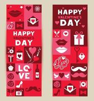 Set of banners for valentine's festival 14 february. vector