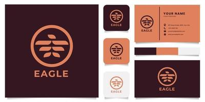 Eagle Logo with Business Card Template vector