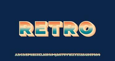 Colorful Retro 3D Text Effect