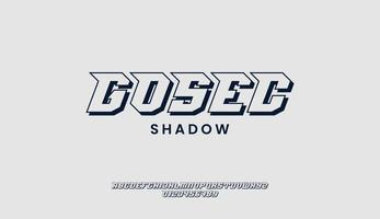Sporty Shadow Font or Typeface and Number vector