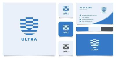 Letter U Logo with Business Card Template vector