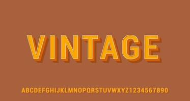 Vintage 3D Text Effect vector