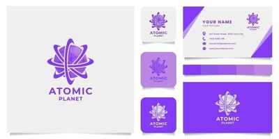 Atomic Planet Logo with Business Card Template vector