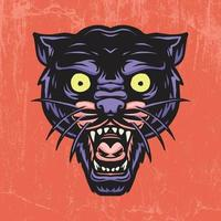 Hand drawn panther vector illustration