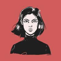 Girl comic style illustration vector
