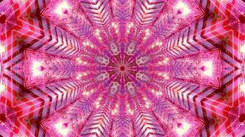 concierto abstracto visual kalaidoscopio mandala patrón 3d ilustración vj loop