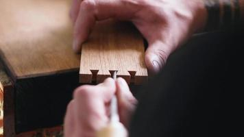 Joiner Carves a Dovetail Joint