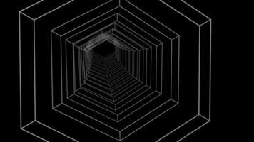 Bucle sin interrupción del túnel de ciencia ficción retro hex infinito digital video