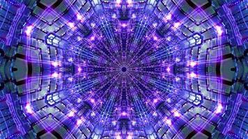 Resumen azul evento visual kalaidoscopio mandala patrón 3d ilustración vj loop