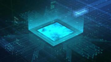 processo de circuito cpu com computador virtual da indústria de transmissão de dados
