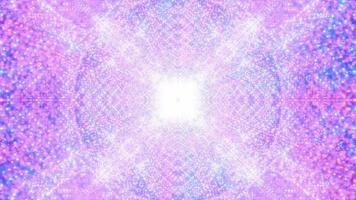 estrelas brilhantes partículas galáxia ilustração 3d dj loop video