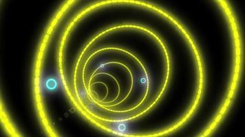 círculo futurista em fundo preto video
