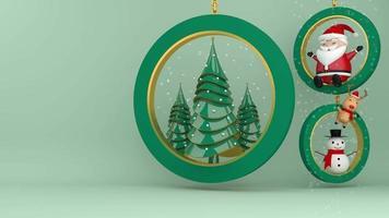 décorations de Noël à l'intérieur des anneaux video