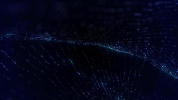 Beautiful Glowing Blue Particles Spiral Background