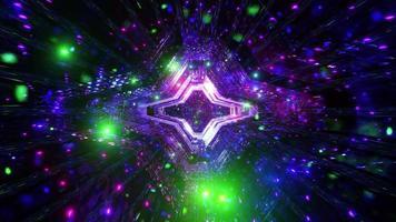 ilustração em 3D de partículas de galáxia de mudança de cor video