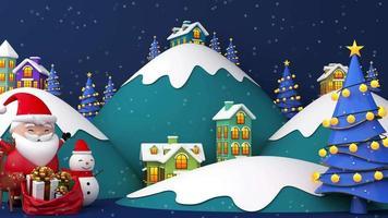 Santa Claus bereit, seine Geschenke an einige Dörfer zu geben video
