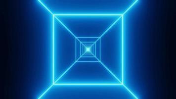 wireframe azul voar através do túnel video