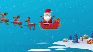 Weihnachtsmann reist, um Geschenke zu geben video