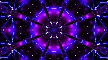 illustrazione 3d stella lampeggiante incandescente video