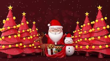 Frohe Weihnachten mit vielen Bäumen