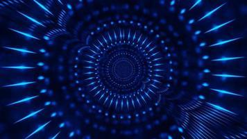 linhas de néon em movimento rápido ilustração 3d vj loop