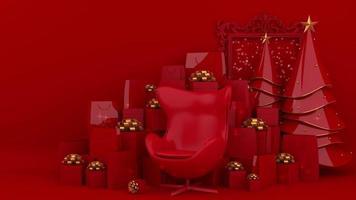 display vermelho de natal