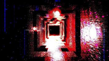 Sci-Fi-Weltraumtunnel mit dunkler Farbkarte video